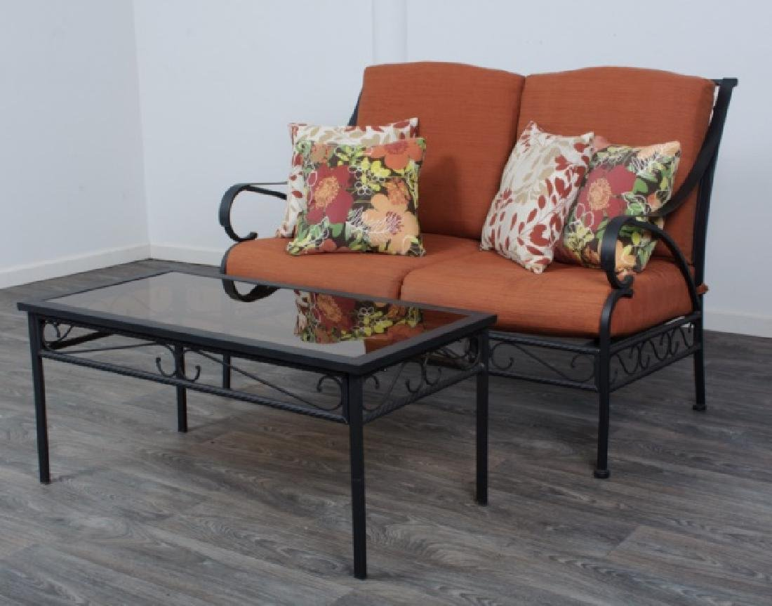 Outdoor Patio Loveseat & Coffee Table