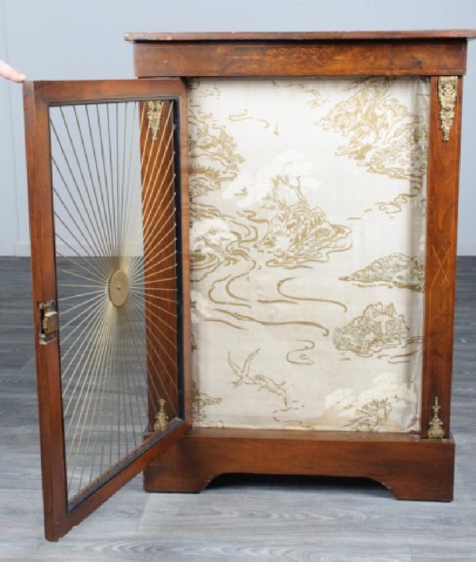 Mahogany Regency Bookcase Speaker Cabinet - 3