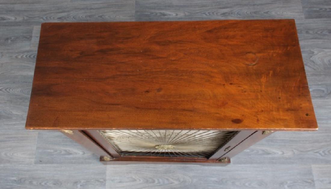 Mahogany Regency Bookcase Speaker Cabinet - 4