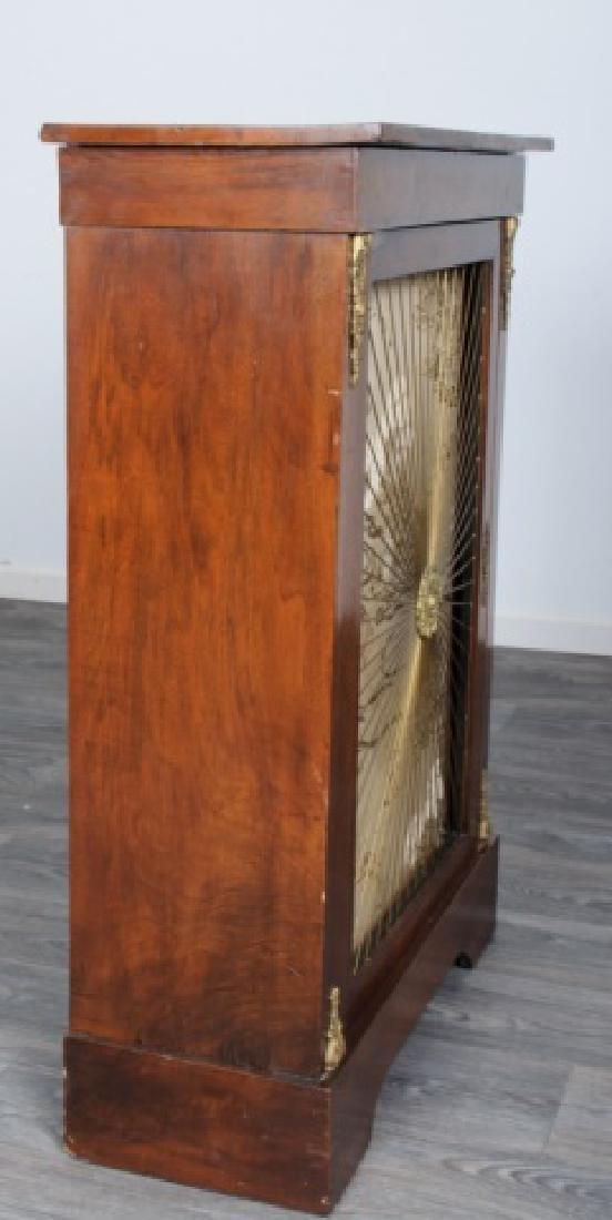 Mahogany Regency Bookcase Speaker Cabinet - 8
