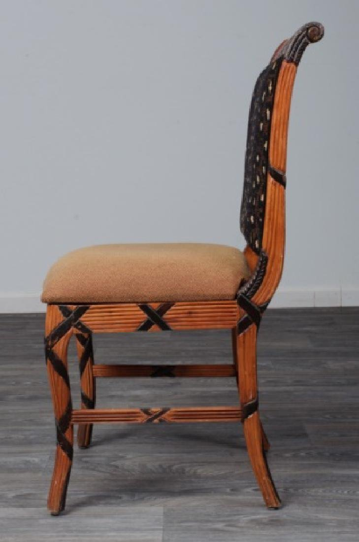 Early Empire Style Square Back Side Chair - 4