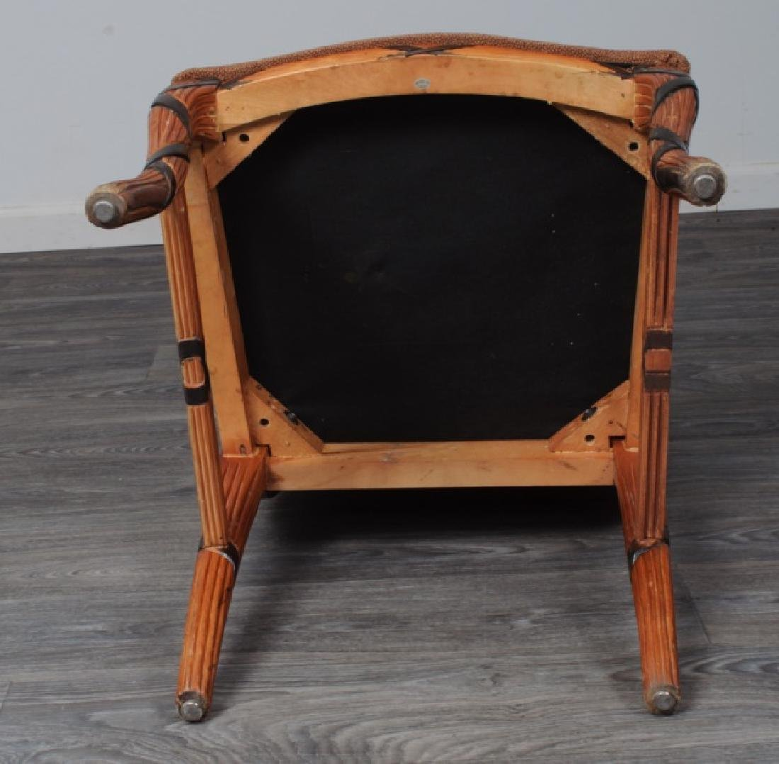 Early Empire Style Square Back Side Chair - 7