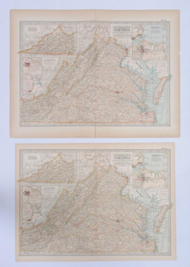 Maps From The Century Atlas Virginia, 1897