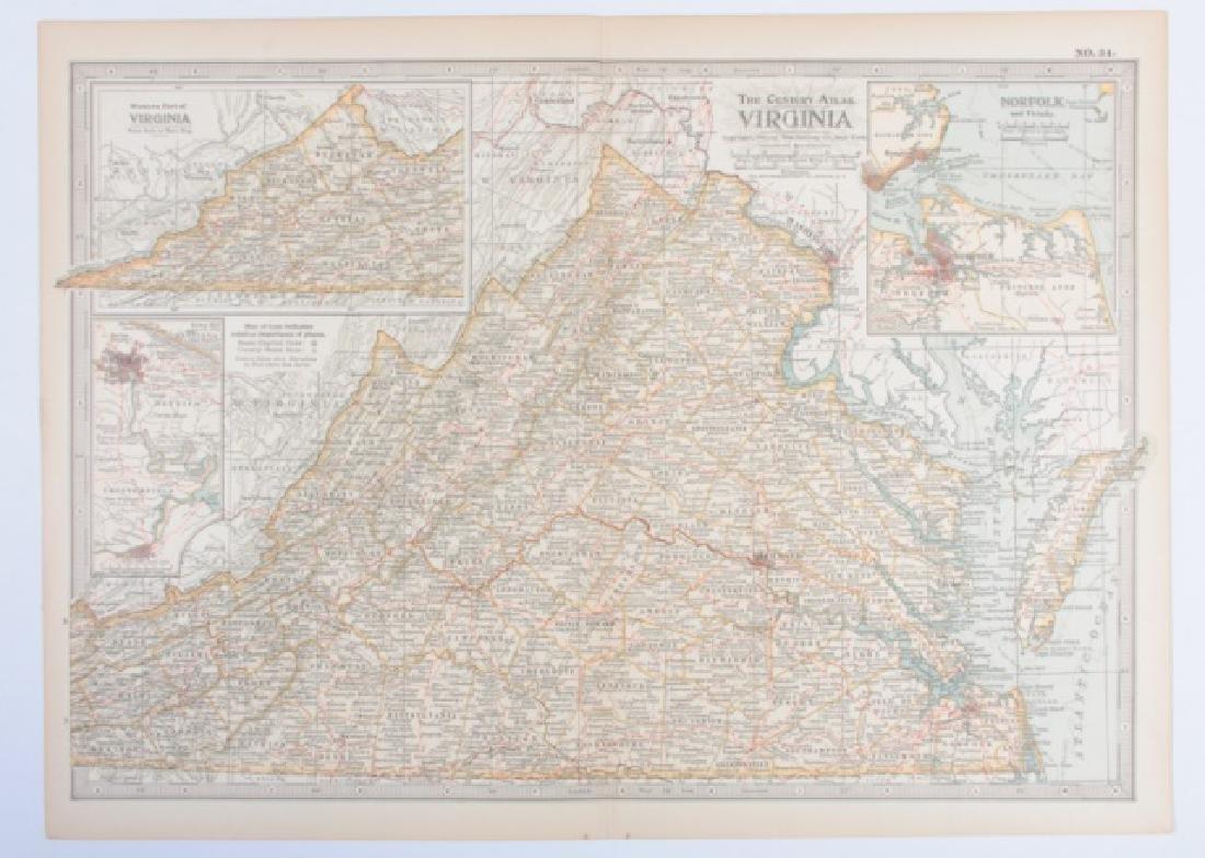 Maps From The Century Atlas Virginia, 1897 - 2