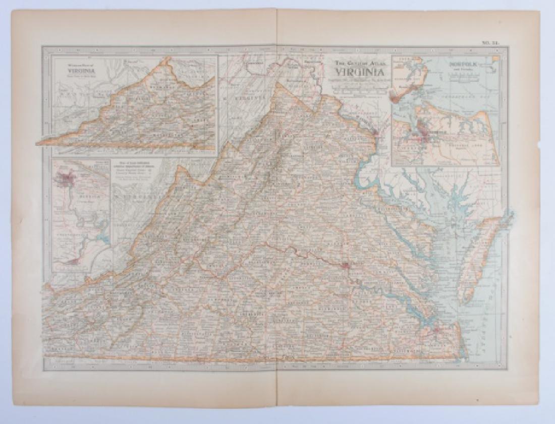 Maps From The Century Atlas Virginia, 1897 - 5