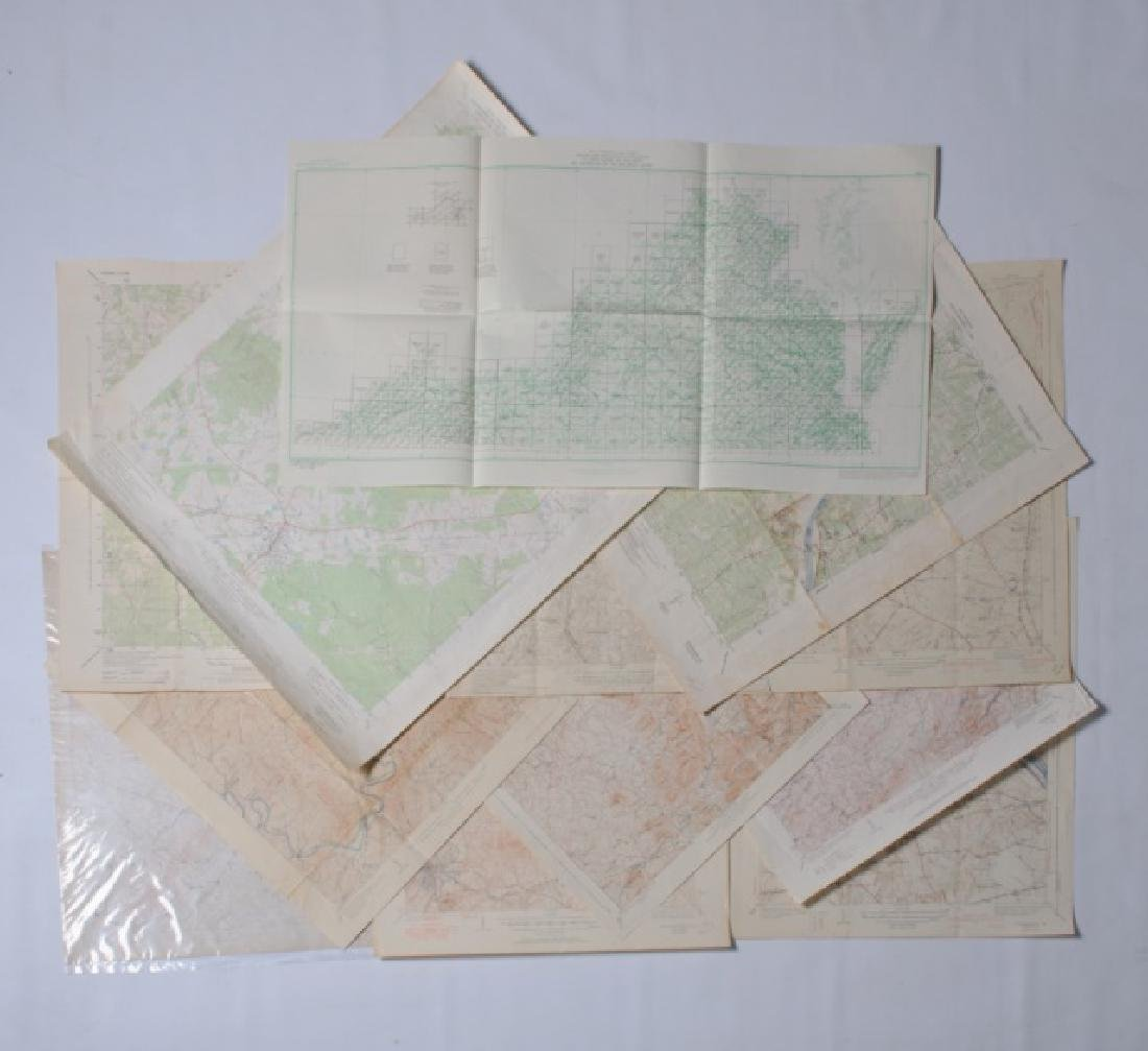 Virginia Topographical Maps and Index of May 1965