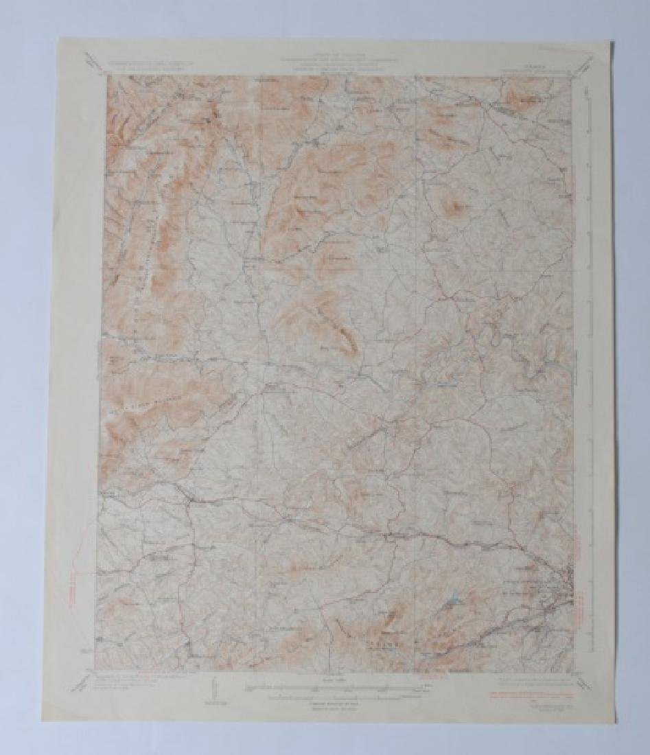 Virginia Topographical Maps and Index of May 1965 - 7