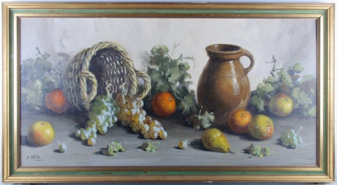 Still Life with Fruit Oil on Board
