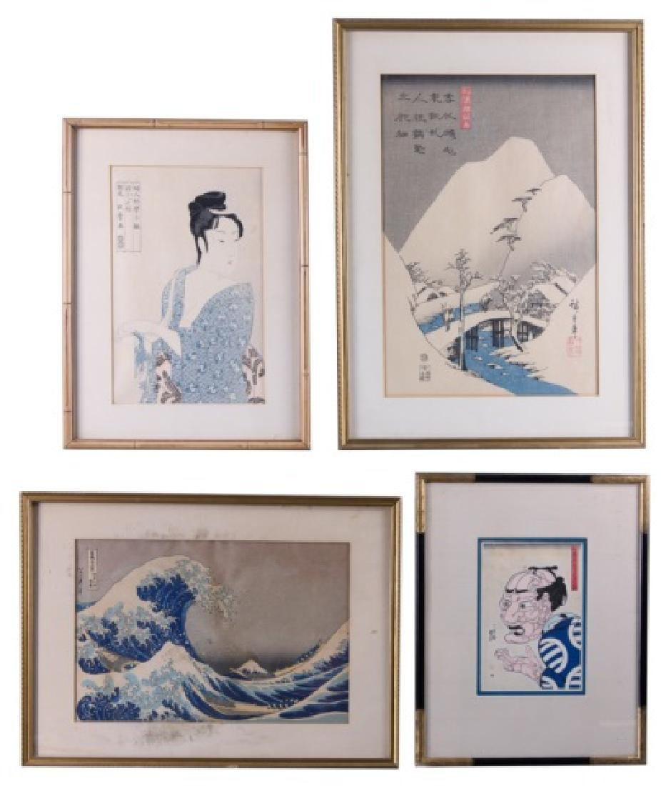 Japanese Woodblock Prints, 4 P. Group