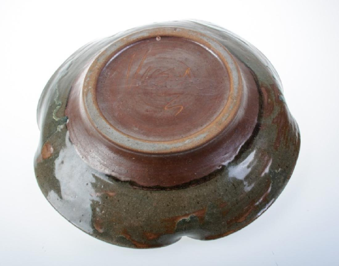 Earthenware Centerpiece Bowl, Signed - 4