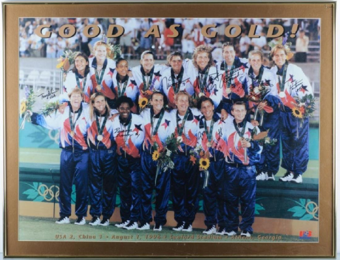 Autographed U.S. Women's Olympic Soccer Poster