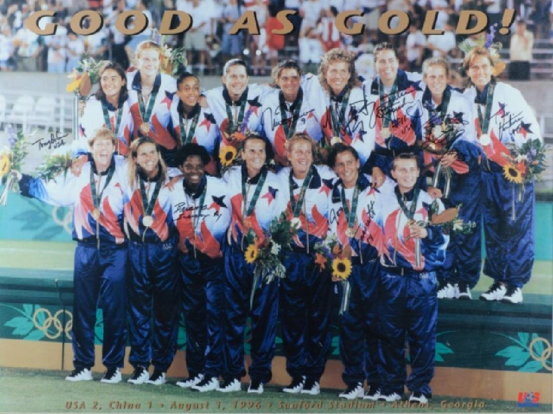 Autographed U.S. Women's Olympic Soccer Poster - 2