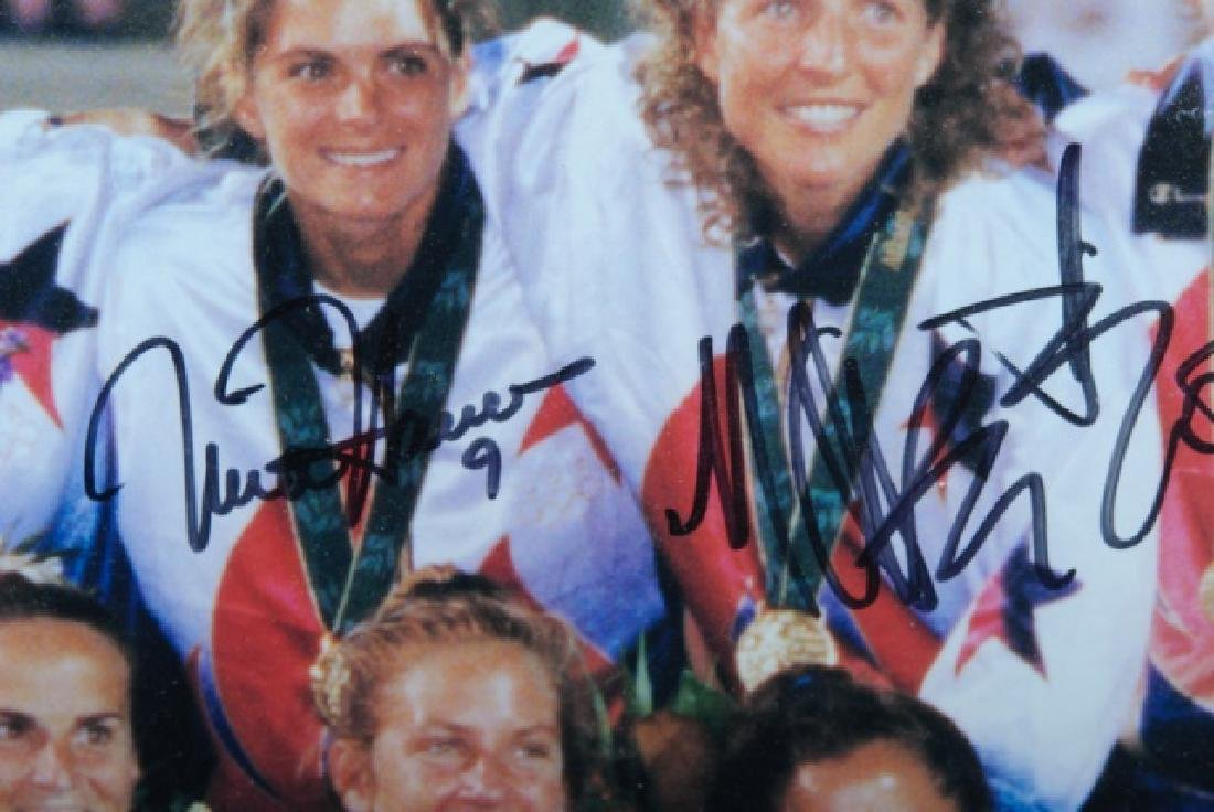 Autographed U.S. Women's Olympic Soccer Poster - 5
