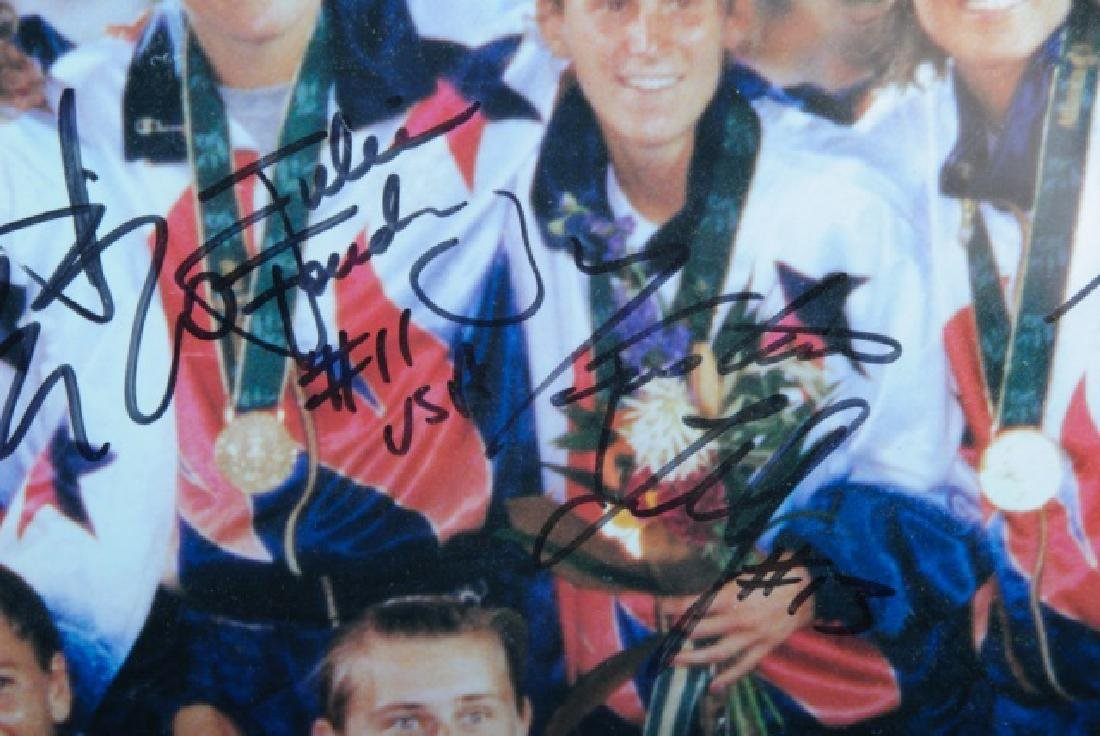 Autographed U.S. Women's Olympic Soccer Poster - 6
