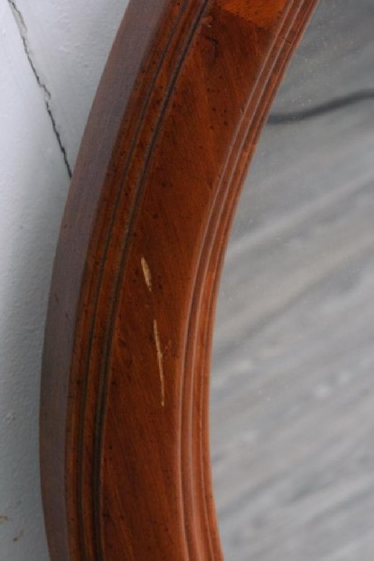 Ethan Allen Oval Wall Mirror, Wood Frame - 4