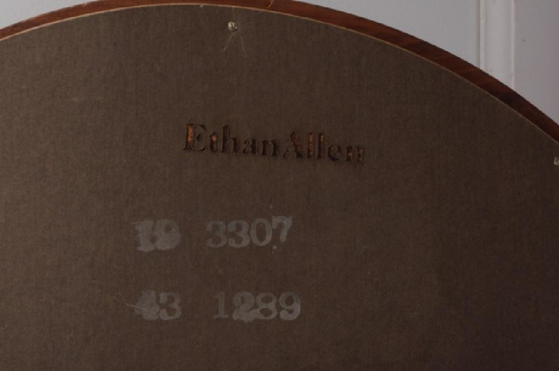 Ethan Allen Oval Wall Mirror, Wood Frame - 5
