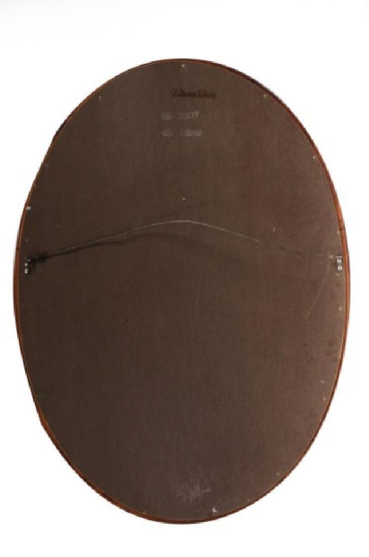 Ethan Allen Oval Wall Mirror, Wood Frame - 6