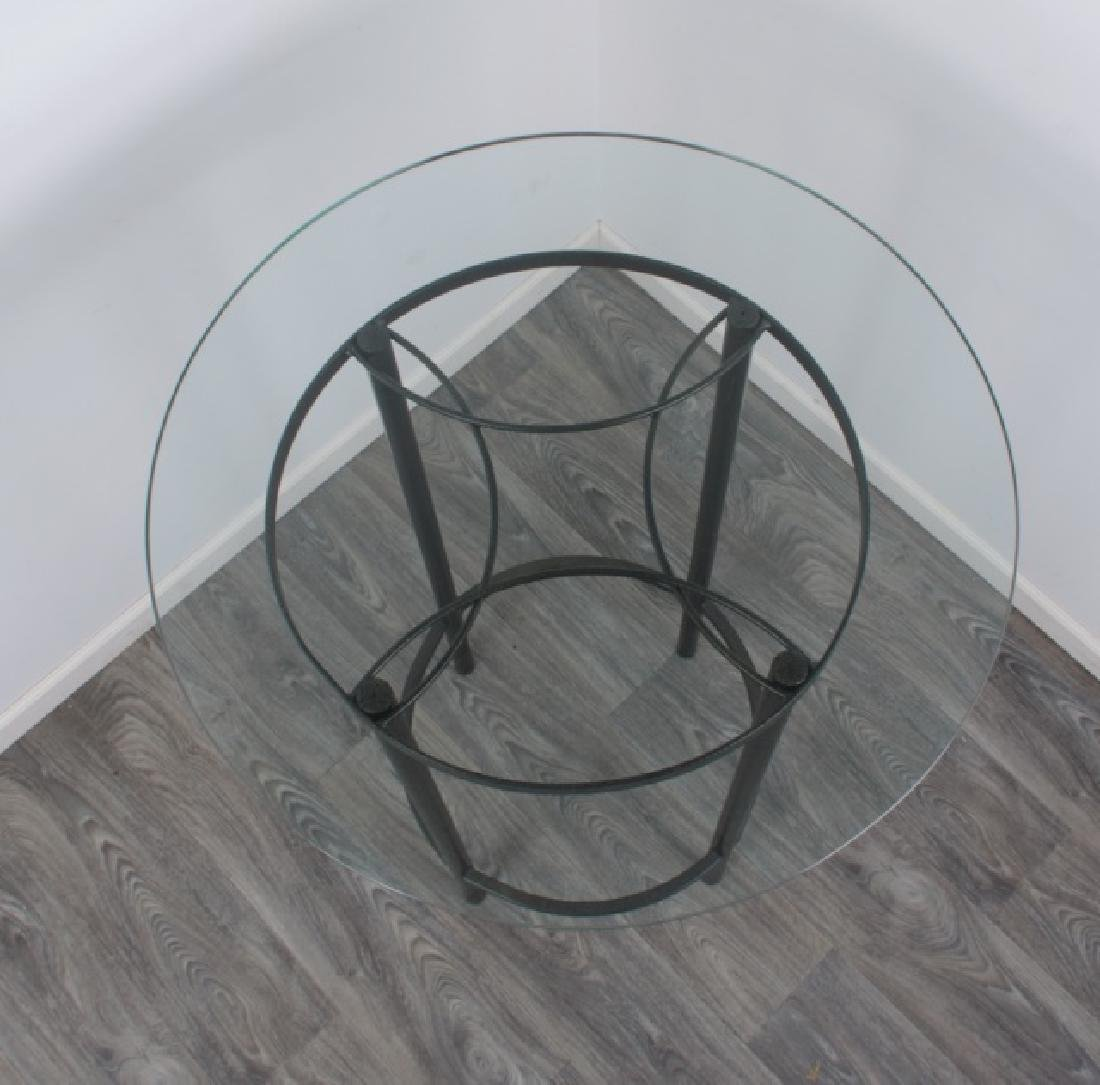Bistro Table & Chairs Pair Set, Glass Top - 6