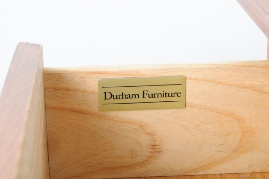 Durham Furniture Oak Seven Drawer Chest & Mirror - 4