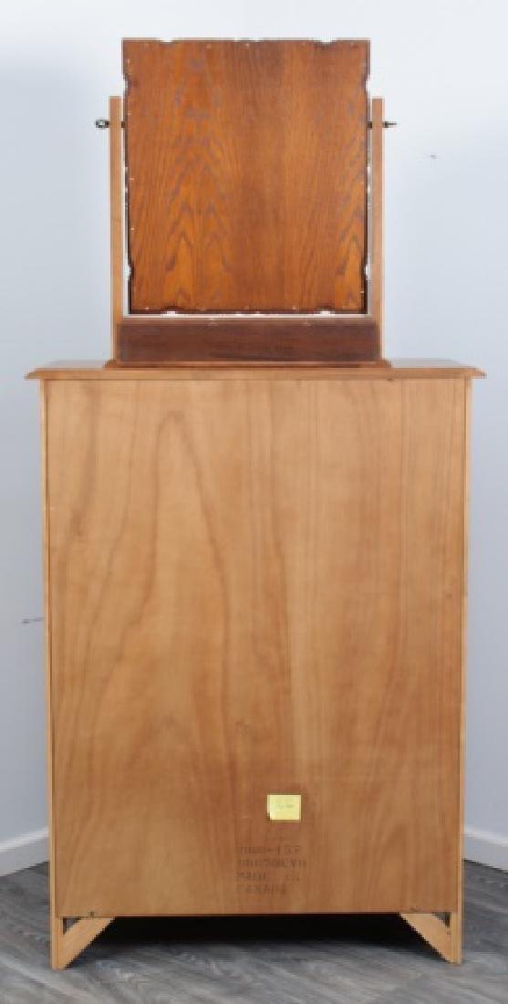 Durham Furniture Oak Seven Drawer Chest & Mirror - 6