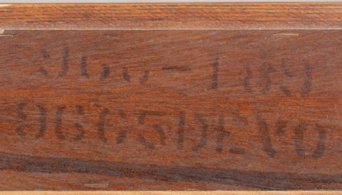 Durham Furniture Oak Seven Drawer Chest & Mirror - 7