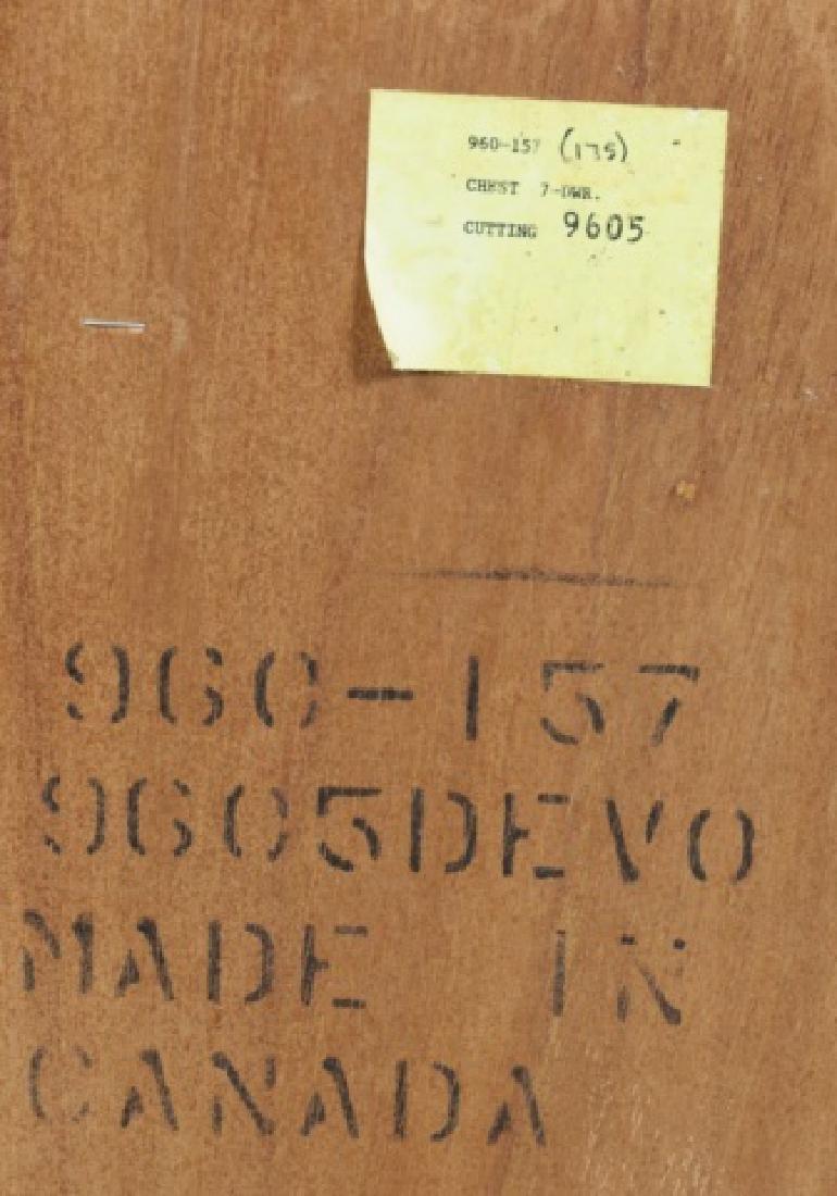 Durham Furniture Oak Seven Drawer Chest & Mirror - 8