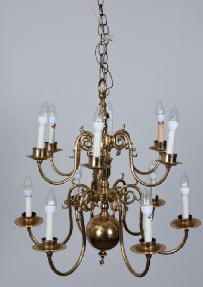 Brass Williamsburg Style Chandelier