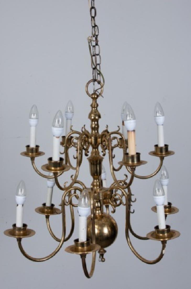 Brass Williamsburg Style Chandelier - 2