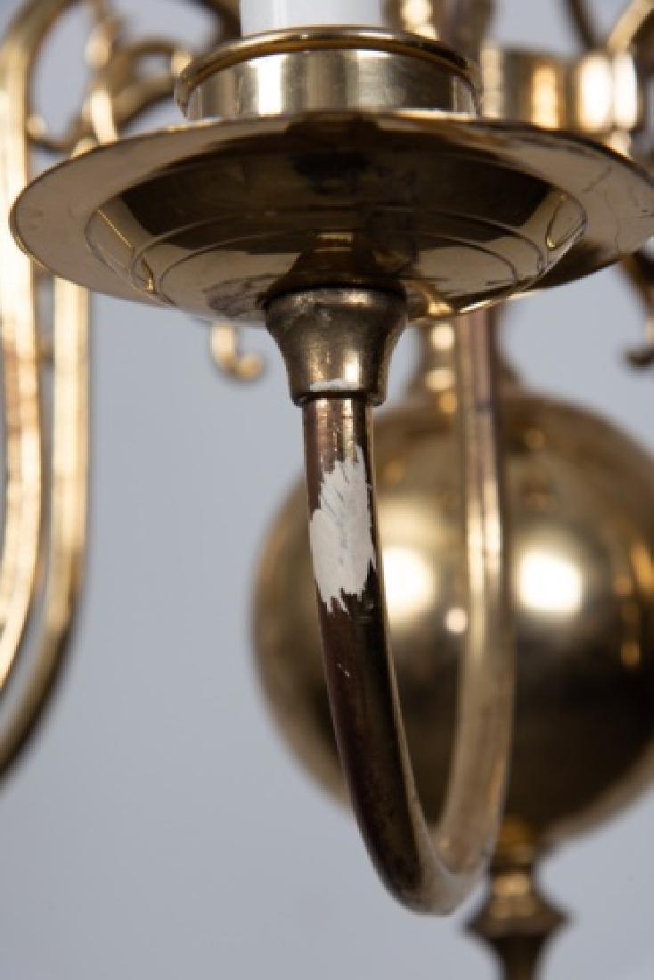 Brass Williamsburg Style Chandelier - 4