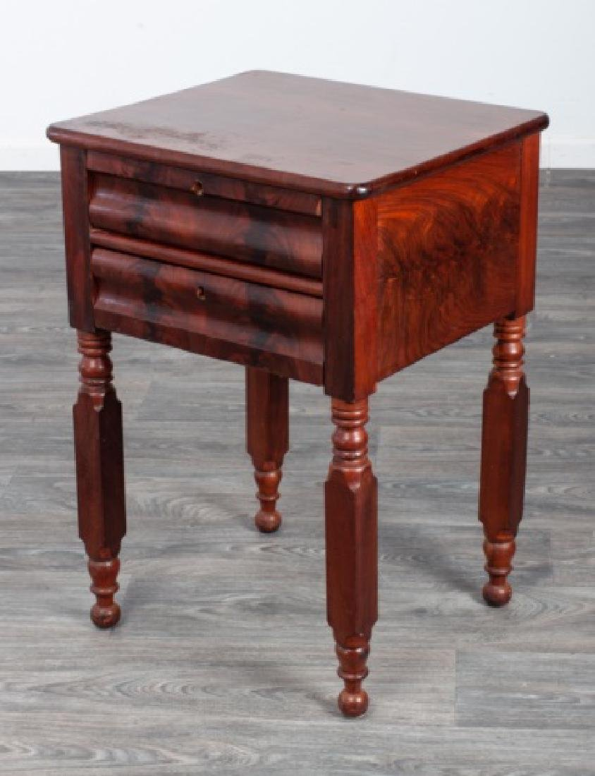 Mahogany Empire Two Drawer Stand