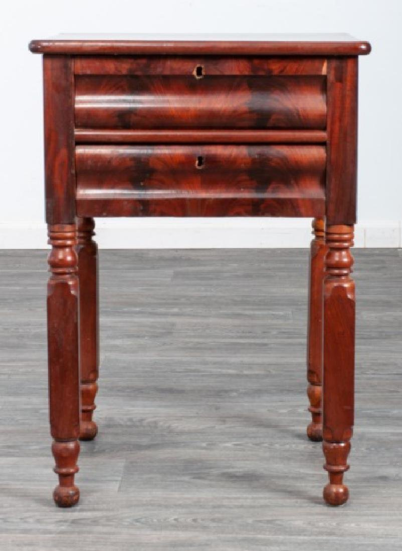 Mahogany Empire Two Drawer Stand - 2