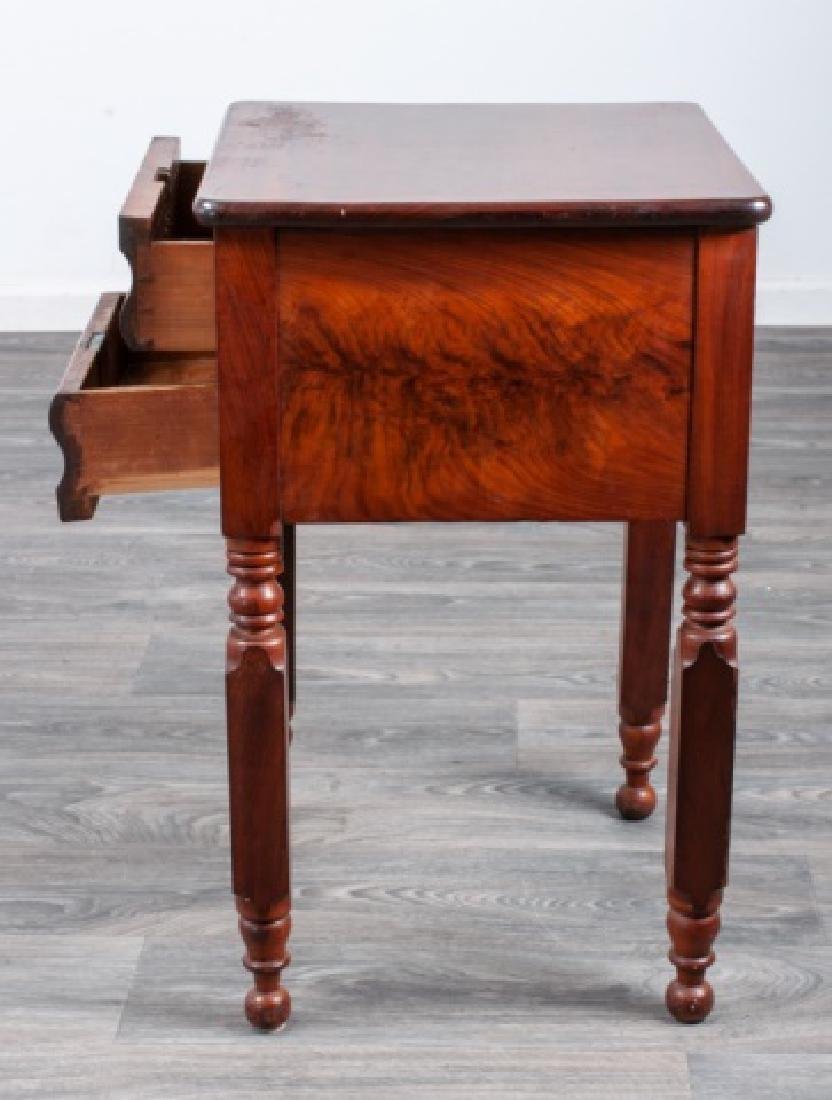 Mahogany Empire Two Drawer Stand - 5