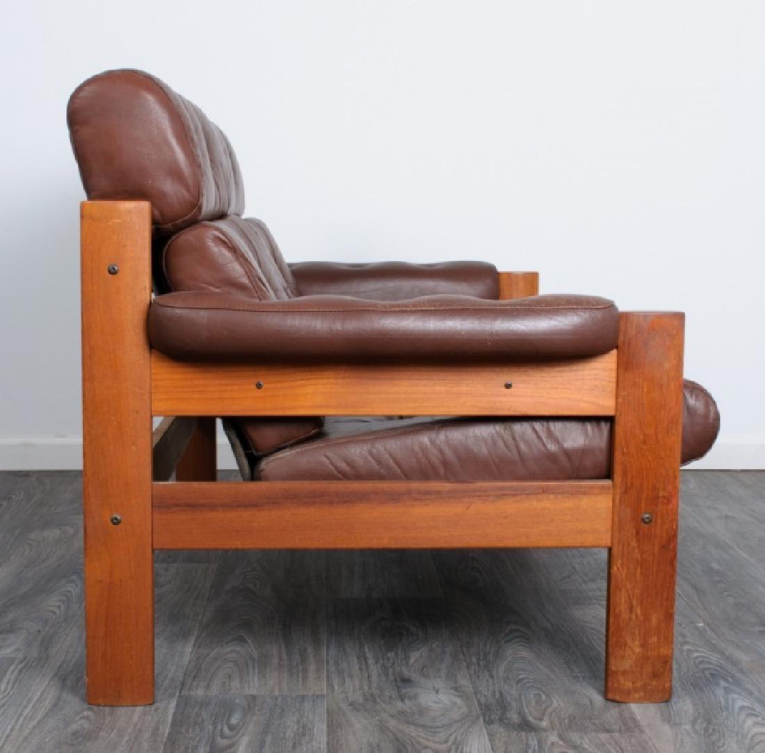 Danish Tufted Leather Loveseat - 5