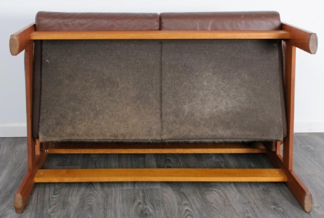 Danish Tufted Leather Loveseat - 6