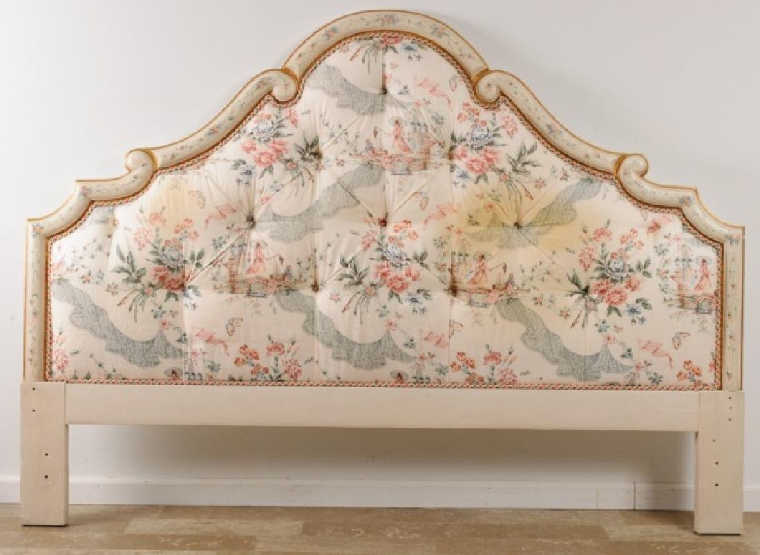 King Size Upholstered Headboard, Button Tufted