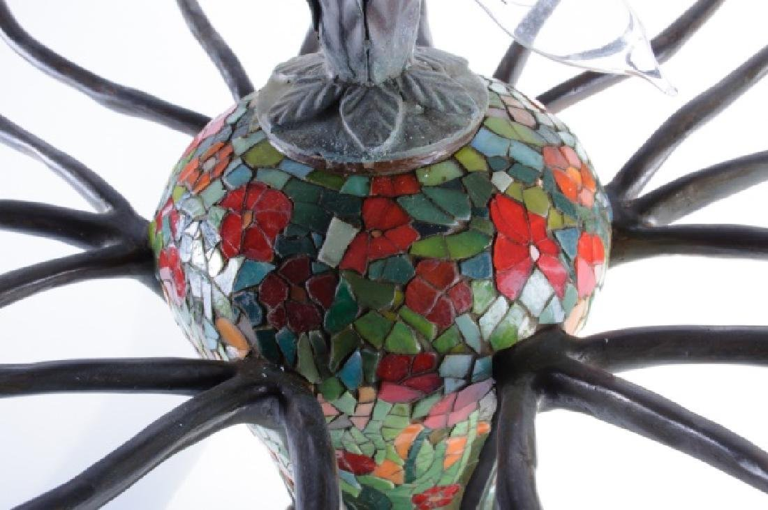 Leaded Glass Zinnia Lamp in the Manner of Tiffany - 3