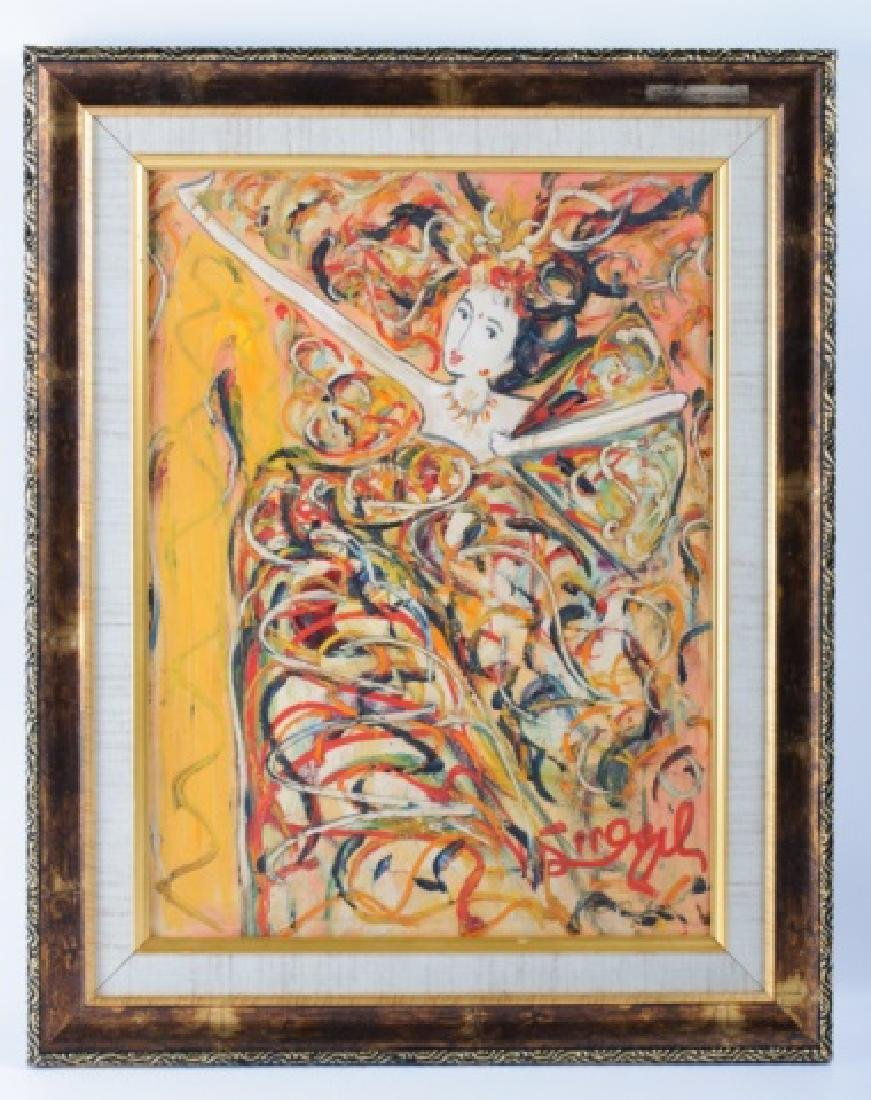 Abstract Expressionist Dancer Oil on Linen