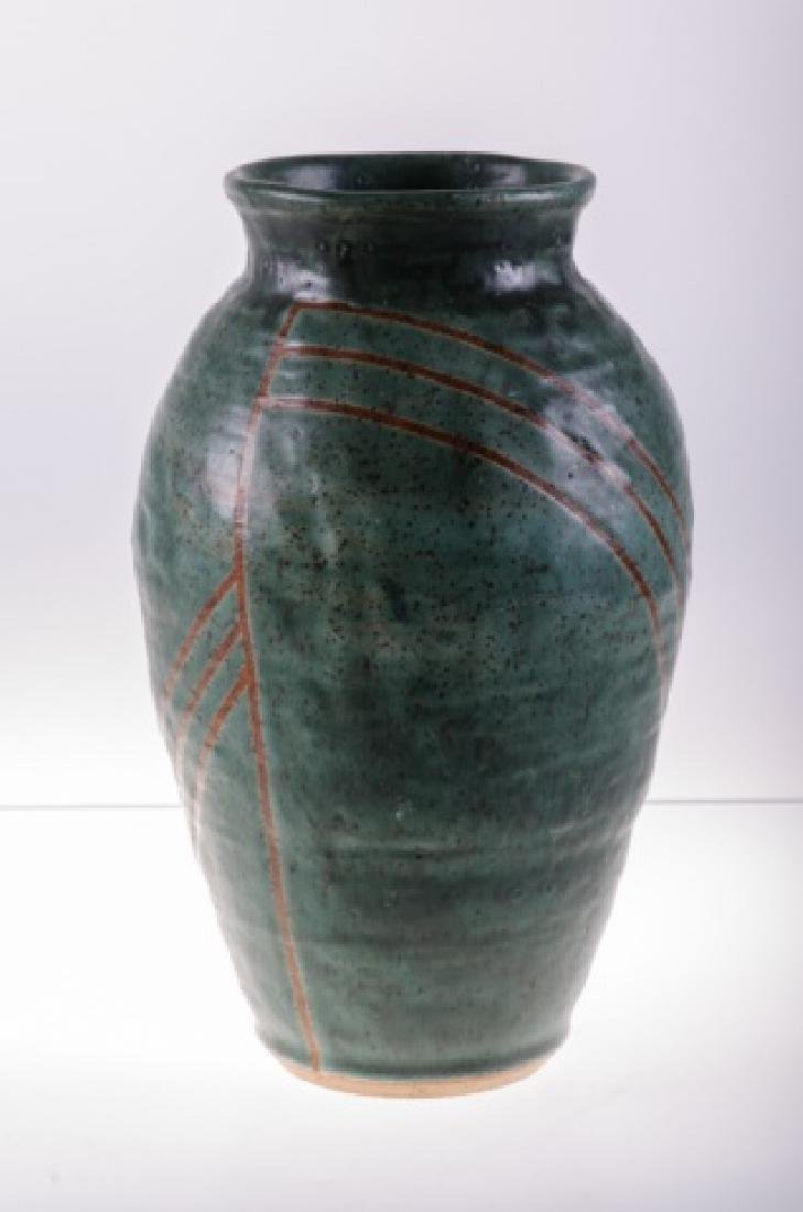 Art Pottery Vase, Signed - 6