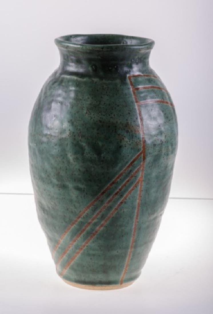 Art Pottery Vase, Signed - 7