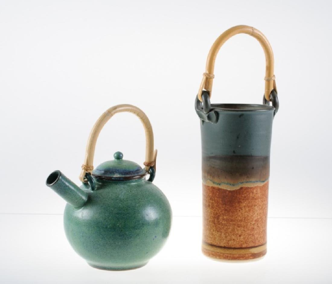 Clarksville Pottery Wine Chiller & Pottery Teapot