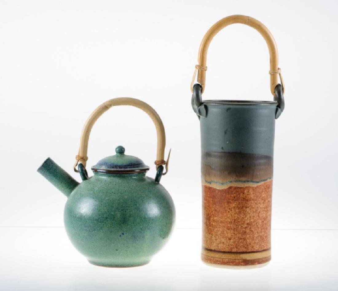 Clarksville Pottery Wine Chiller & Pottery Teapot - 2