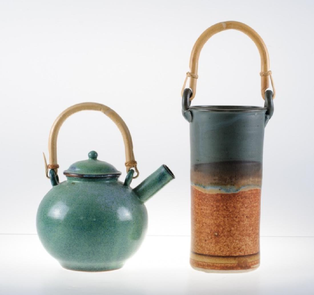 Clarksville Pottery Wine Chiller & Pottery Teapot - 4