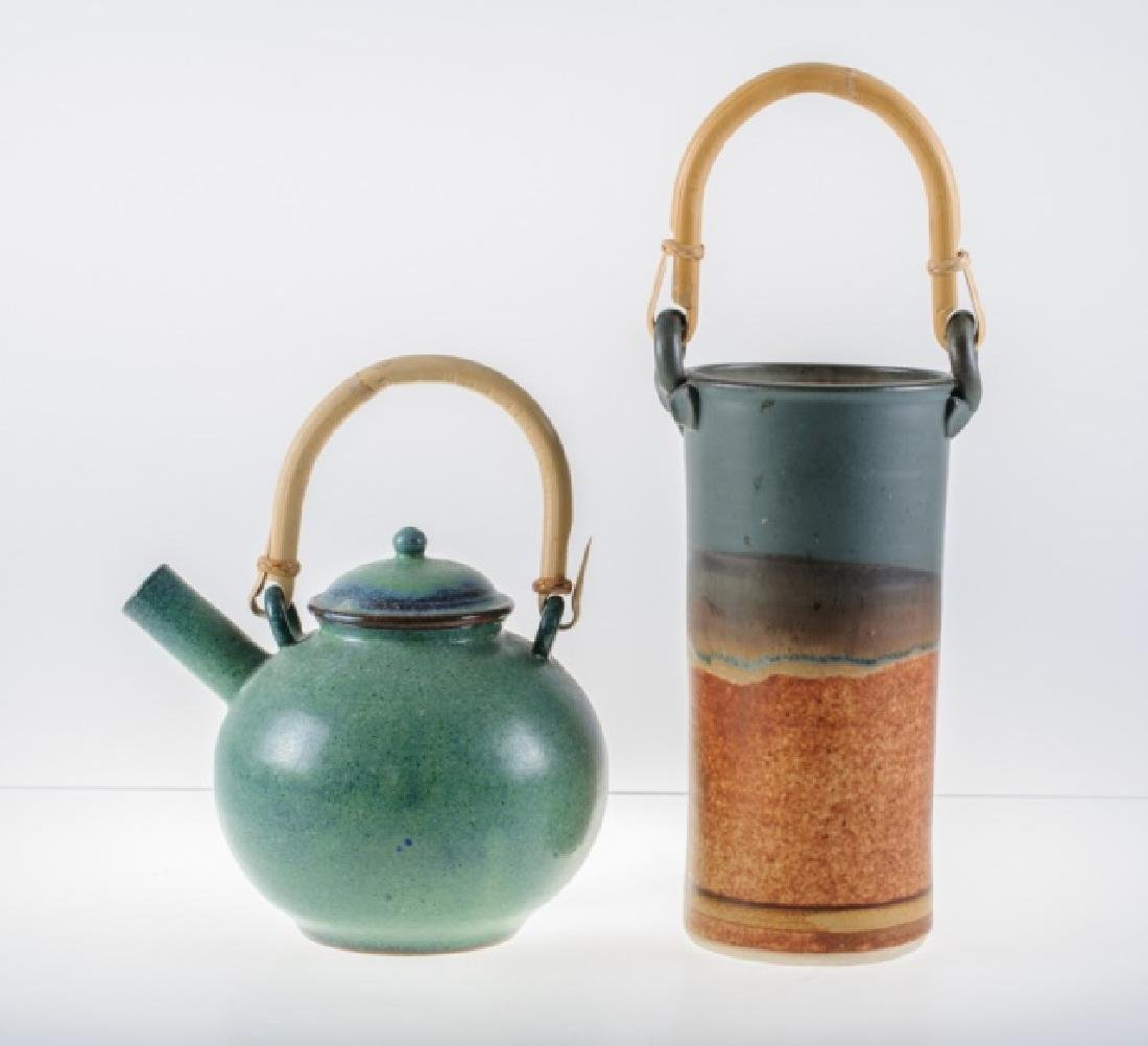 Clarksville Pottery Wine Chiller & Pottery Teapot - 6
