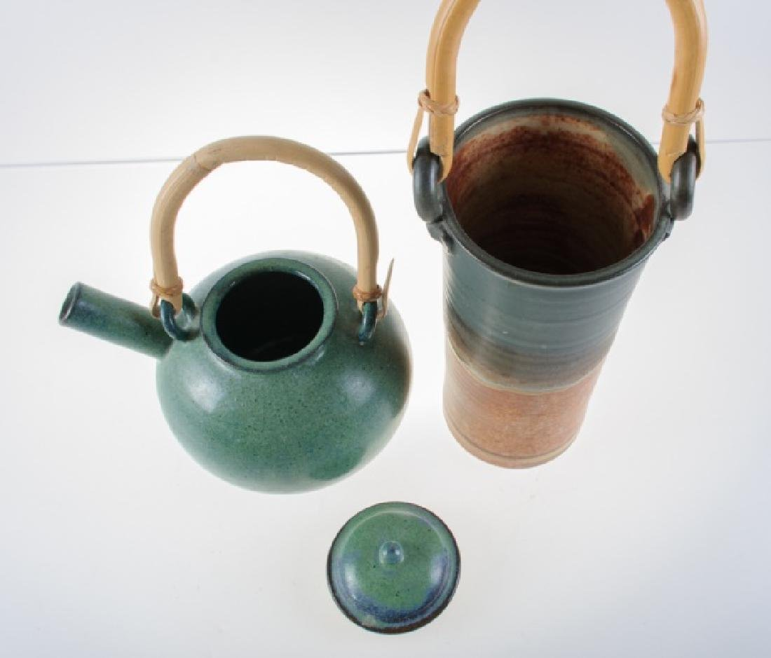 Clarksville Pottery Wine Chiller & Pottery Teapot - 7