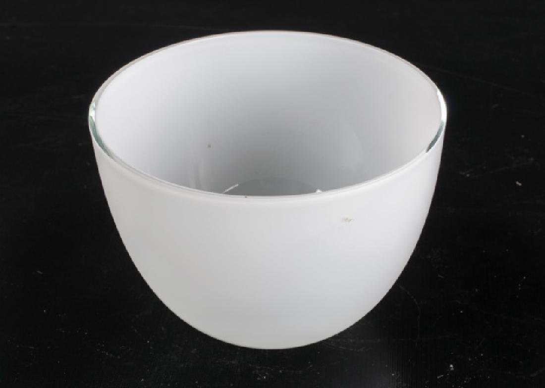 Cased Clear Over White Bowl