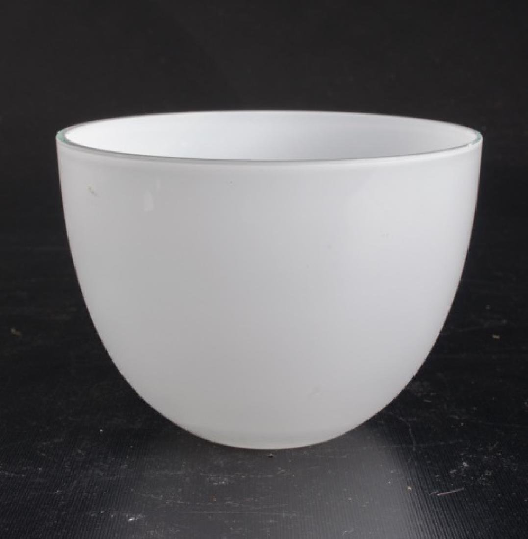 Cased Clear Over White Bowl - 2