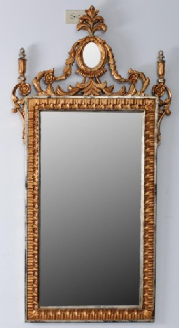 Carved & Gilt Wood Wall Mirror