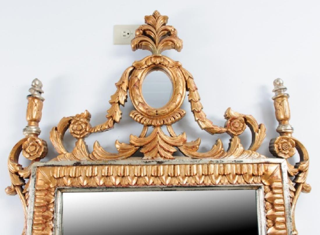 Carved & Gilt Wood Wall Mirror - 2