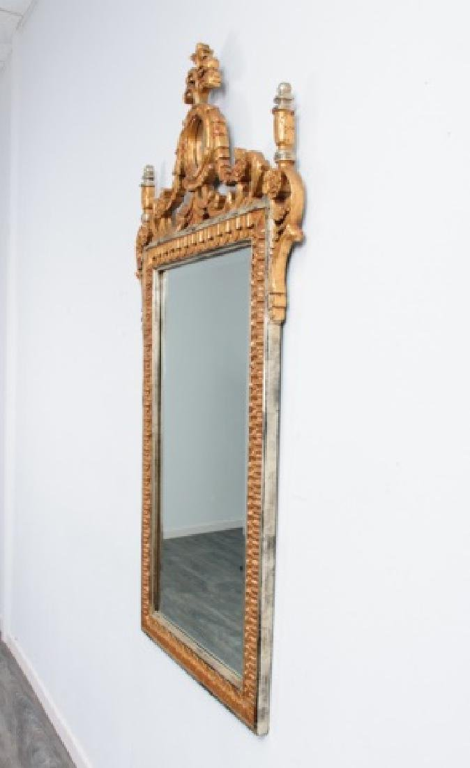 Carved & Gilt Wood Wall Mirror - 3