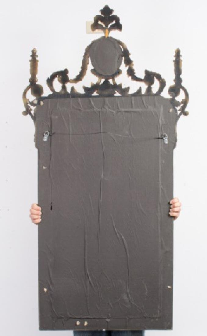 Carved & Gilt Wood Wall Mirror - 4